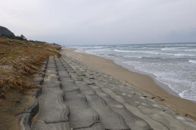 再び砂浜出現。...