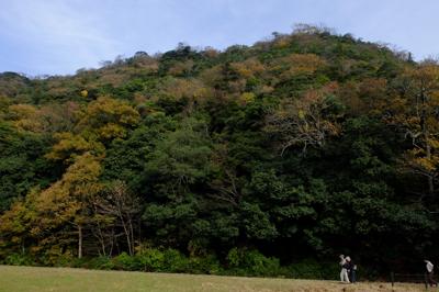 久松山、っていうか鳥取城跡。山...