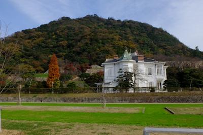 鳥取城跡(久松山)全景。...