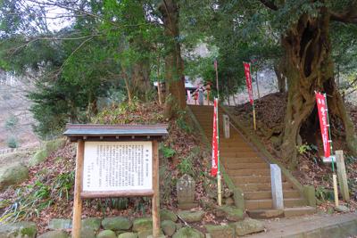 広沢寺の分岐を直進して、左に広...