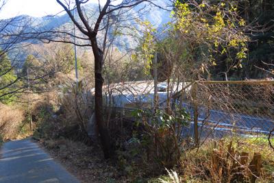 箱根新道が見えた。その脇を通る...