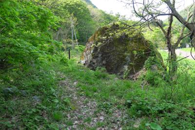ん? 大きな岩がある。...