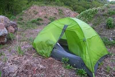 テントを・・・...