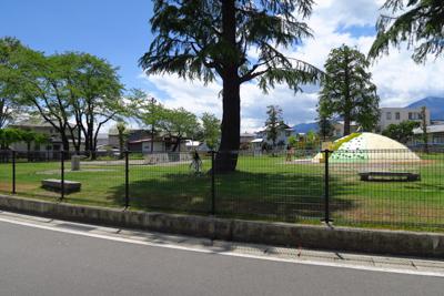 気持ちの良さそうな公園がある。...
