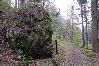 ・・・左側にでっかい岩があった...