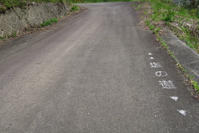 このサイン、松本から糸魚川まで...