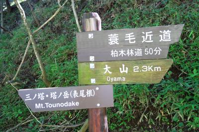 大山山頂までは2.3kmです。...