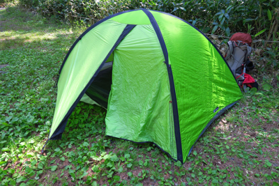 無事設営出来た。このあとテント...