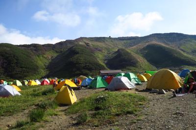 ・・・雷鳥沢キャンプ場に到着。...