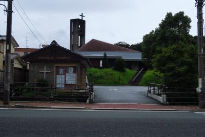 外宮の直ぐ側にカトリック教会が...
