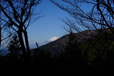 途中で富士山がちょっとだけ見え...