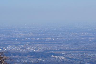 東側からは関東平野が一望出来る...