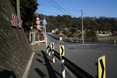 旧小倉橋の直前に左に曲がる。...
