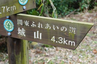 ・・・道標に城山の文字が、自分...
