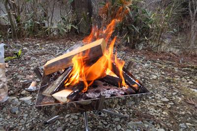 簡単に着火できた。...