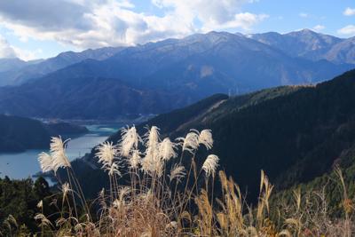 南山山頂から丹沢方面の展望。5...