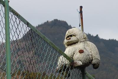 猿越しの鐘ヶ嶽。...