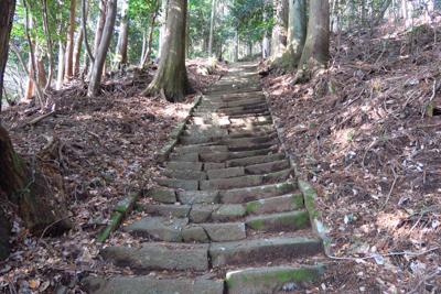 浅間神社でまで石の階段が続きま...