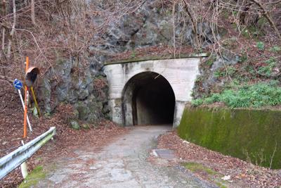 あれが山ノ神隧道。...