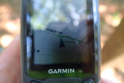 GPSで確認。間違いないここが...
