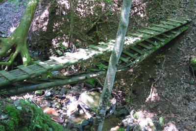 橋の上に橋。こんな橋が数箇所あ...