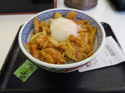 朝食は吉野家で簡単に済ませる。...