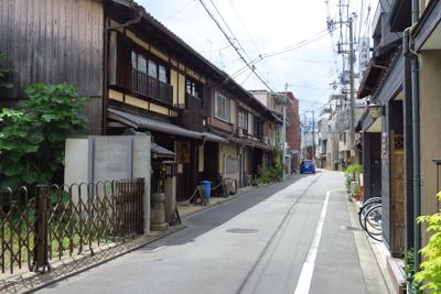 京都らしい路地。...