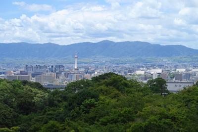 京都タワーが見えます。今日はあ...