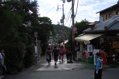 銀閣寺の参道。...
