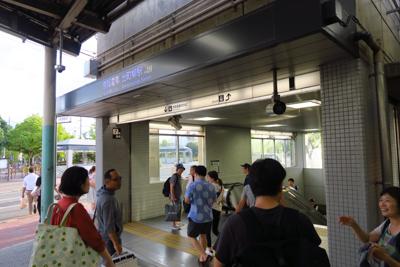 出町柳駅で京阪電車に乗り換える...