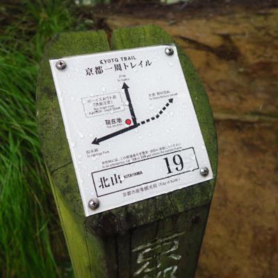 ここで、京都一周トレイルのルー...