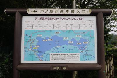 芦ノ湖西海岸歩道入口から入りま...