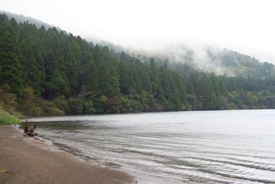 ・・・やっぱり、湖岸の一部が砂...