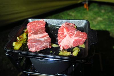 肉〜!...