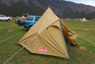 撤収開始っす。テントを乾燥させ...