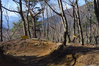 春岳山への分岐。...