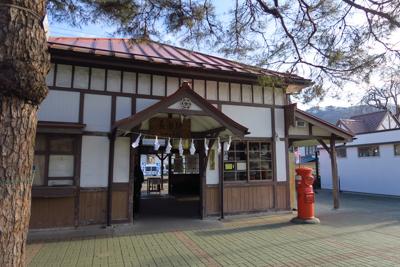 長瀞駅。昭和感いっぱい・・・。...