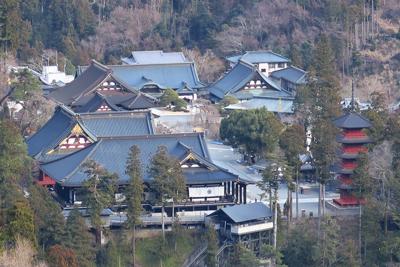 久遠寺が見える!!! 本堂と五...