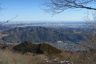 関東平野一望。高取山の滞在時間...