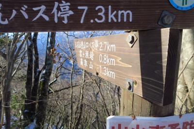 下山開始です。2.7km。...