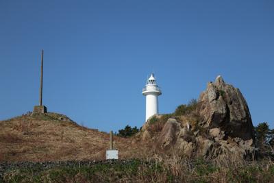 鮫角灯台。...