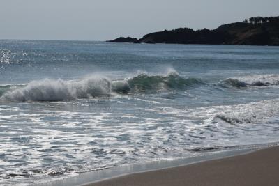 意味もなく波打ち際を歩く。...