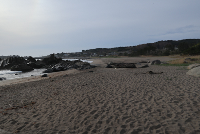 また砂浜を進む。...
