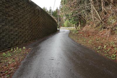 ・・・舗装道路へ出て、さらに進...