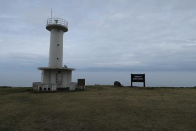 ここは灯台があり、広場のように...