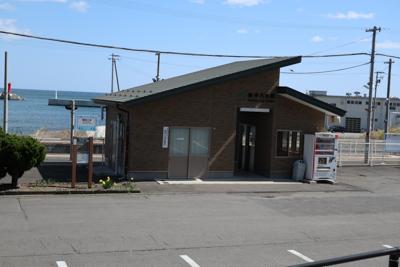 陸中八木駅だ。...