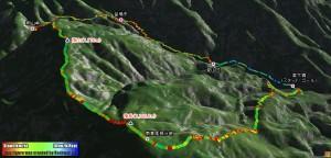 寄大橋から檜岳山稜を周回してきました(後編)