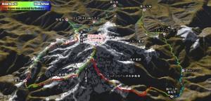 (丹沢)大山の御中道を歩く