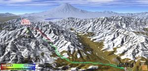 雪の菰釣山をバリエーションルートで・・・