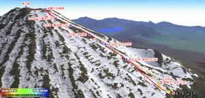 12回目の富士登山は雪山でした